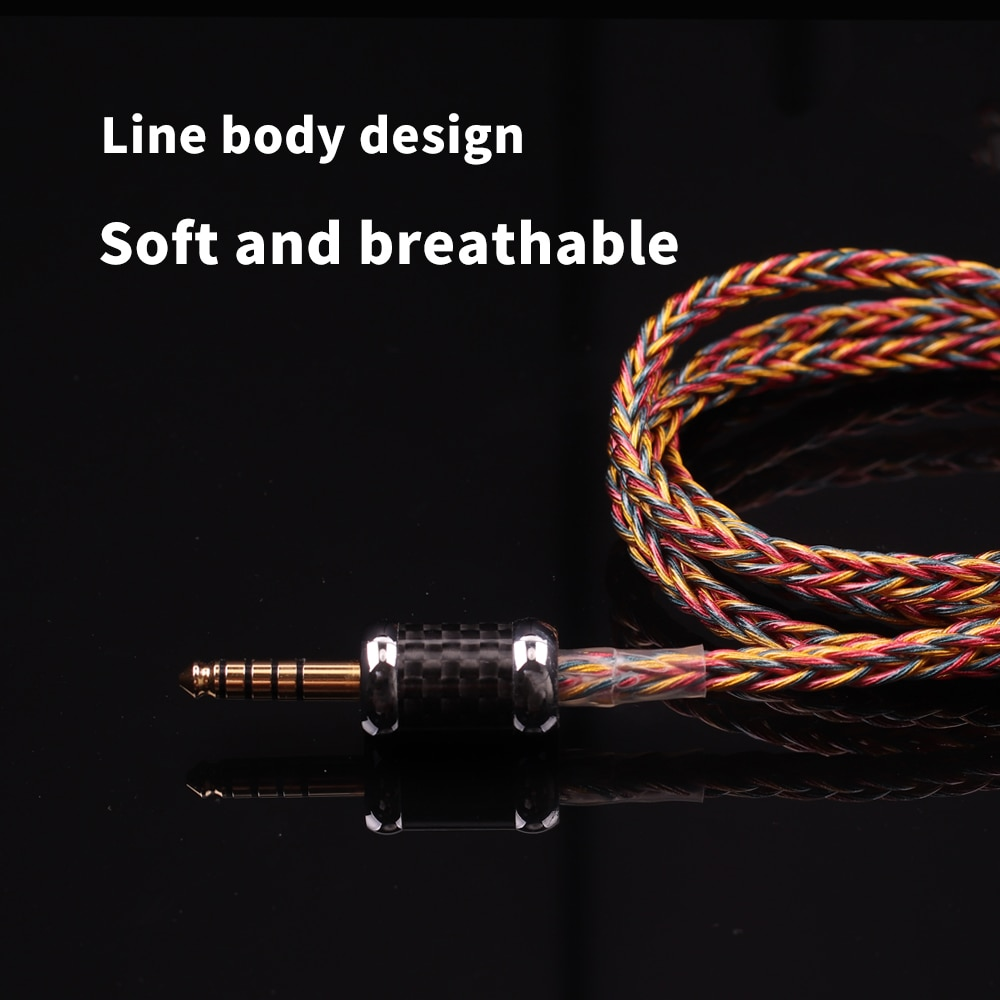 SYRNARN S1 Balanced Cable Headphone Upgrade 4.4/3.5mm DIY Headphones Jack for 0.78 mmcx A2DC QDC ie400 Headset Hifi Audio Cable enlarge