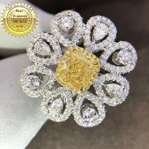 Кольцо из 18-каратного белого золота с бриллиантами для помолвки и свадьбы, ювелирные изделия с натуральным бриллиантом, имеют сертификат 003