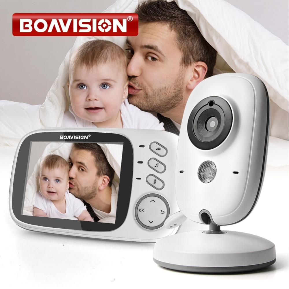 3.2 بوصة اللون LCD فيديو لاسلكية مراقبة الطفل للرؤية الليلية 5m مربية مراقبة Bebek التهويدات مراقبة الأمن كاميرا VB603