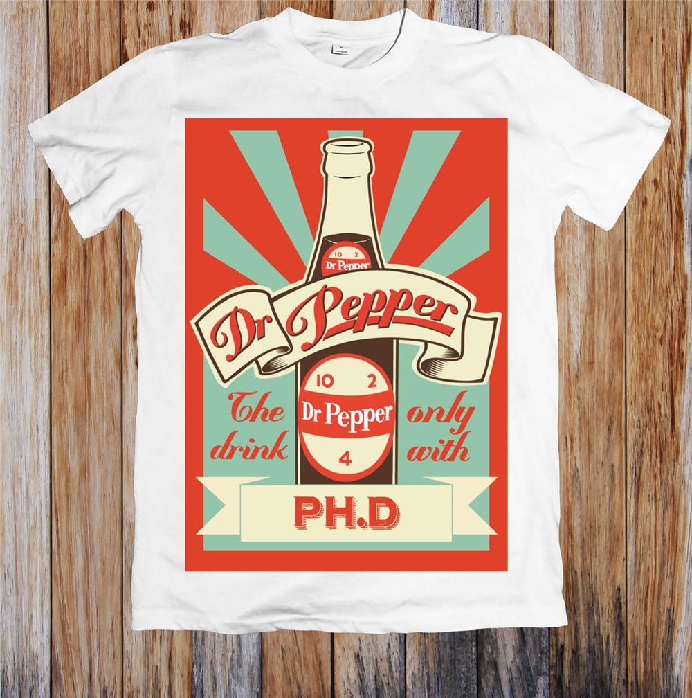 Dr pimenta retro poster unisex t camisa em torno do pescoço camiseta