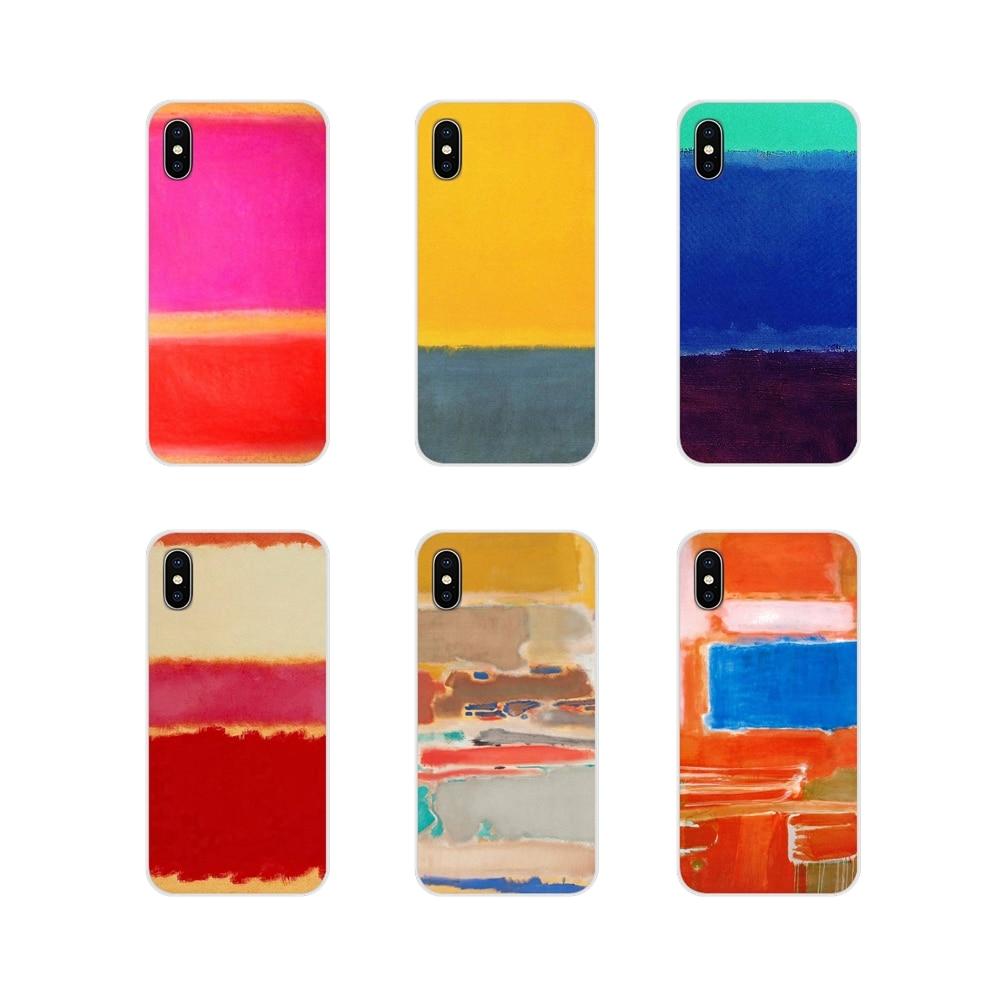 Funda transparente TPU Mark rotko pinturas para Huawei G7 G8 P7 P8 P9 P10 P20 P30 Lite Mini Pro P Smart Plus 2017 de 2018 de 2019