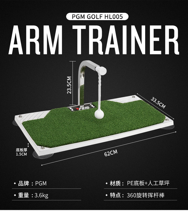 Golf Swing Trainer Indoor Golf Swing Trainer 360° Rotation Low Resistance Stainless Steel Shaft Counter-Attack Rotating Rod