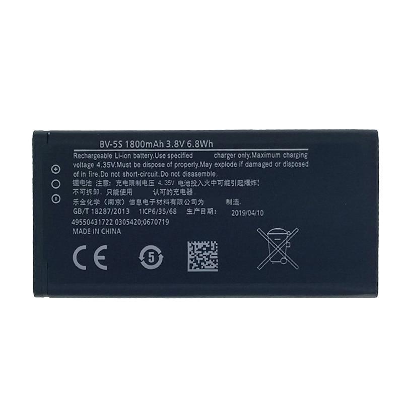 Batería 1800mAh BV-5S para Nokia X2 X2D X2DS RM-1013 teléfono móvil en Stock batería de alta calidad de última producción + número de seguimiento