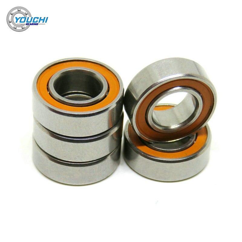 2pcs set stainless steel ball bearing smr105 2os cb abec 7 ld 5 10 4mm 2Pcs ABEC-7 6x12x4mm SMR126 2RS Stainless Steel Hybrid Bearings SMR126C SMR126RS MR126 CB 6*12*4 Ceramic Bearing