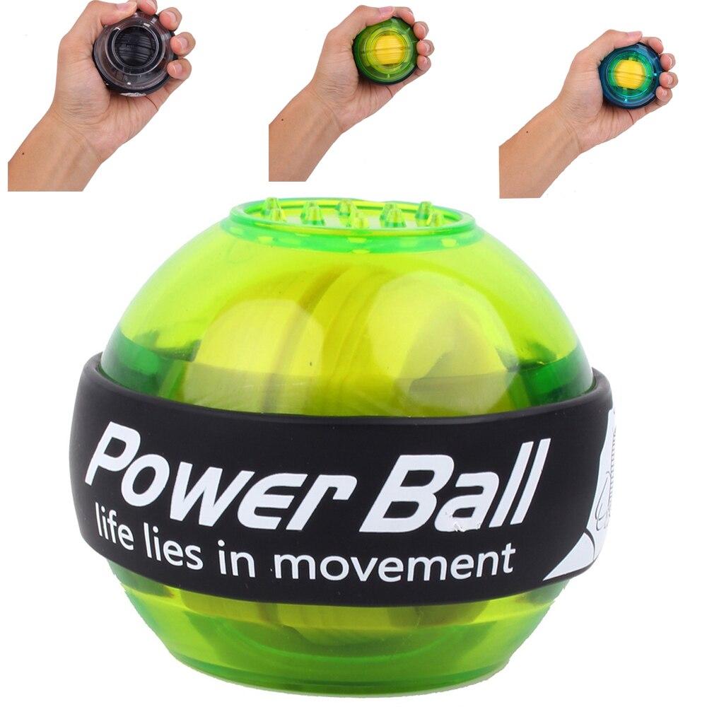 Power bola para la muñeca Bola de masaje giroscopio de mano giroscopio LED bola ejercicio máquina entrenador de brazo