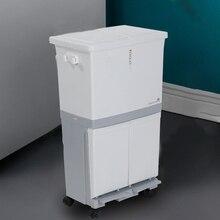 Poubelle de cuisine 45L/60l, 3 couches, poubelle japonaise de séparation sèche et humide avec roues dangle, seau de stockage pour la maison