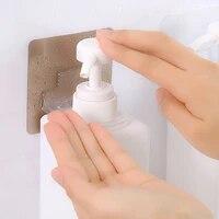 1Pc multifonction salle de bain adhesif support etageres stockage mural pour le lavage du corps shampooing bouteille mural auto-collant crochets fort