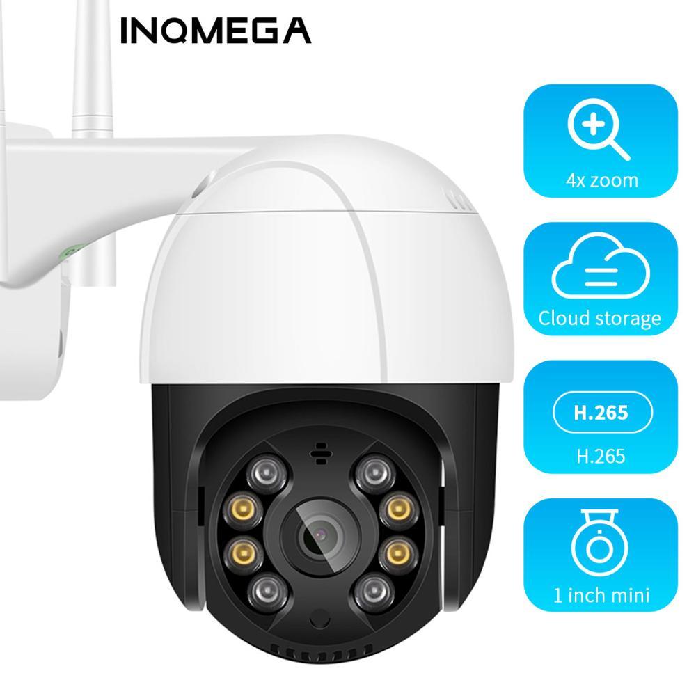 INQMEGA-كاميرا مراقبة خارجية PTZ IP Wifi hd 1080P ، جهاز أمان لاسلكي ، مع تقريب رقمي 4X ، AI ، حماية H.265 وبروتوكول ONVIF P2P