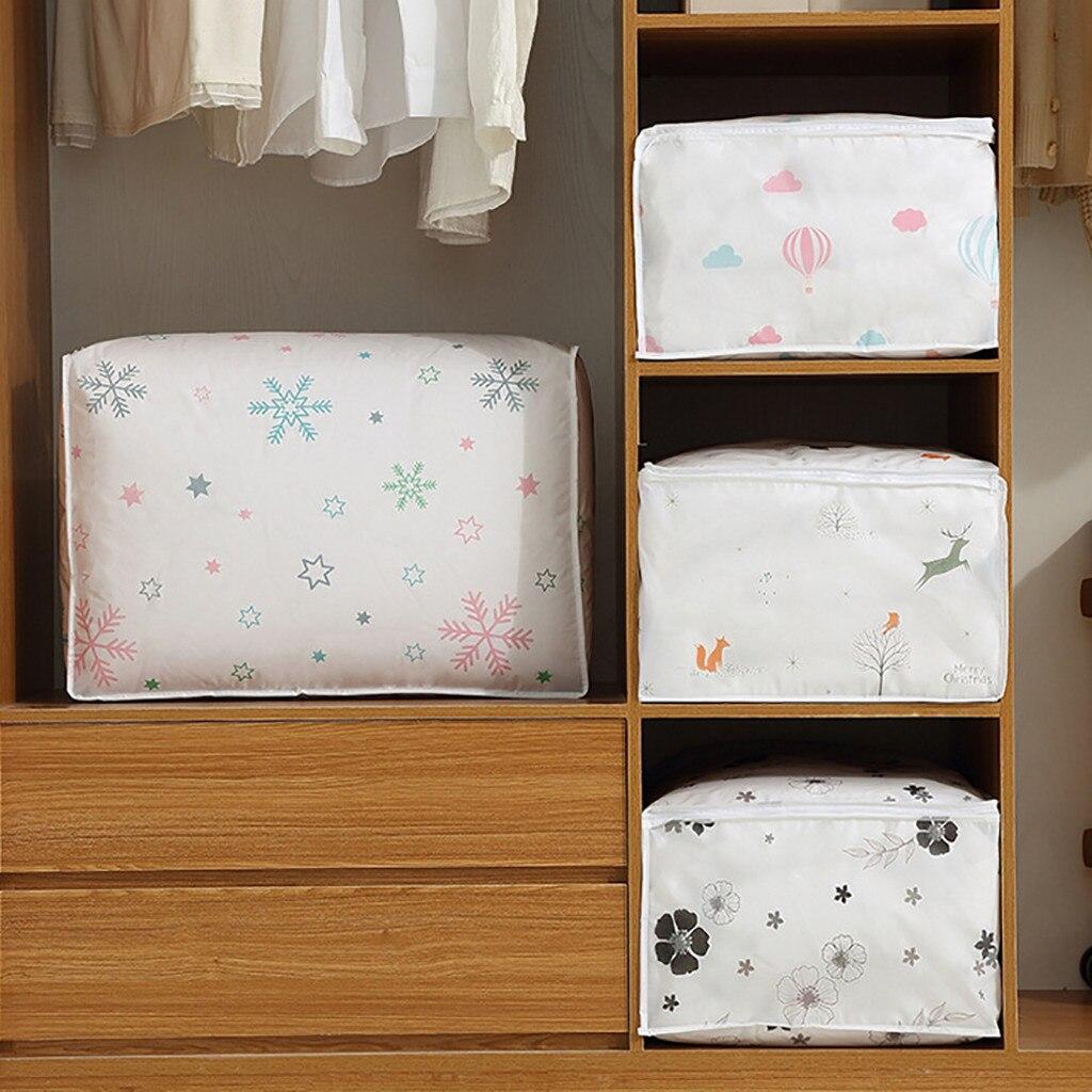 Bolsa de almacenamiento plegable para ropa, manta, colcha, armario, suéter, caja organizadora, bolsas para maquillaje, organizador de botellas y frascos de almacenamiento