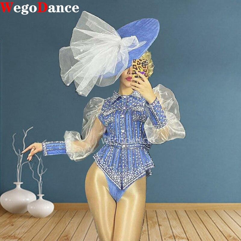 Nueva camiseta de cristal para mujer, conjunto de pantalón, conjunto de bailarina de Bar, traje de baile de graduación para cantante
