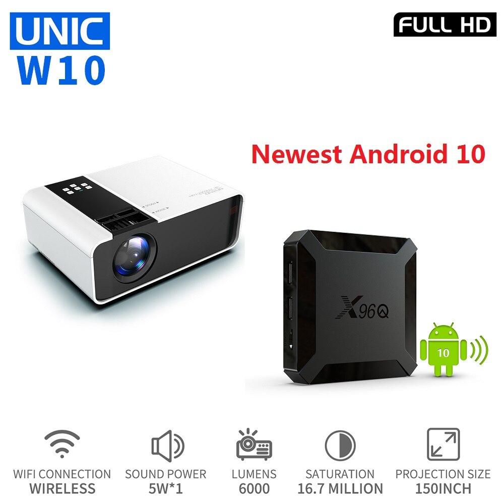 El Centro de W10 LED 6000 lúmenes Proyector 4K 1080P Full HD Android TV caja Proyector WIFI apoyo Youtube, Netflix para reunión a casa