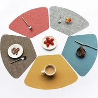 woven solid color water oil resistant non slip kitchen placemat coaster insulation pad dish cup table mat hom decor 51119