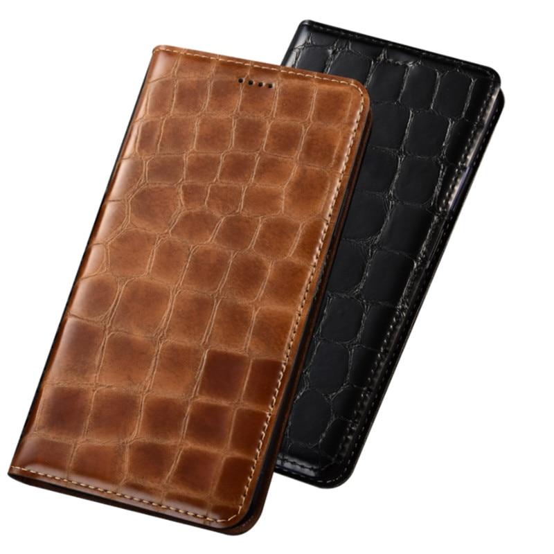 جراب هاتف محمول من جلد البقر الطبيعي ، حافظة بطاقات جيب لهاتف Xiaomi Redmi Note 4X/Xiaomi Redmi Note 4 ، جراب هاتف مغناطيسي