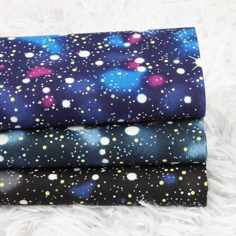Metade Quintal Universo Estrelado Tecido 100% Algodão Quilting Tecido Patchwork Diy Material de Costura de Vestuário Roupa Das Crianças Tissu Coton