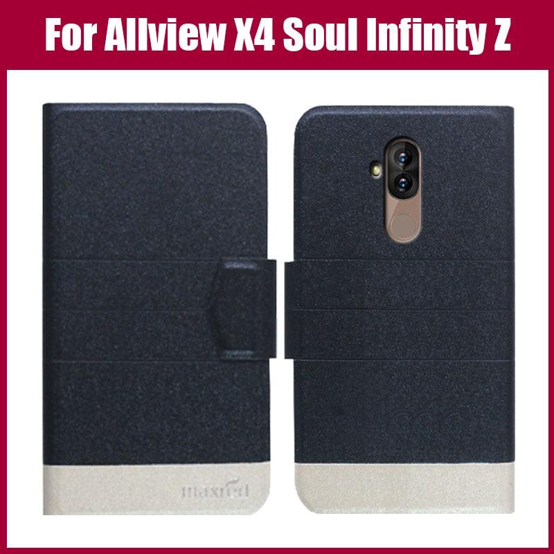 ¡Venta caliente! Allview X4 Soul Infinity Z funda con tapa de 5 colores ultrafina moda Colorida funda protectora para teléfono de cuero