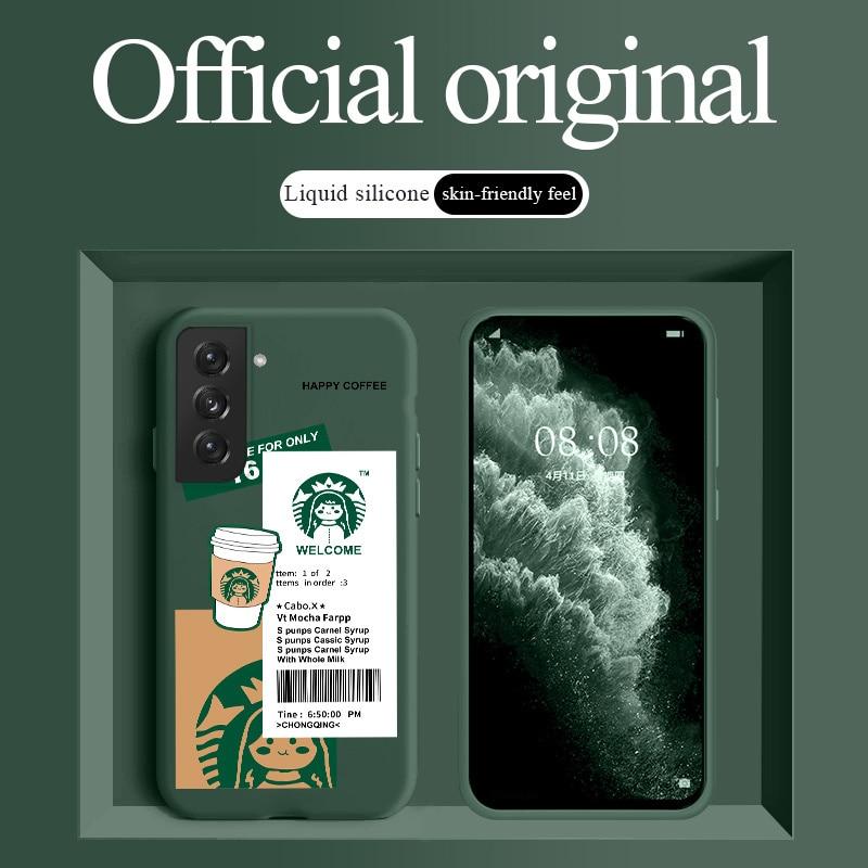AliExpress - Stitch Coffee Case For Samsung Galaxy S21 S20 FE S10 Note 20 10 Ultra Plus A72 A52 A42 A32 A12 A02S 4G 5G Liquid Silicone Cover