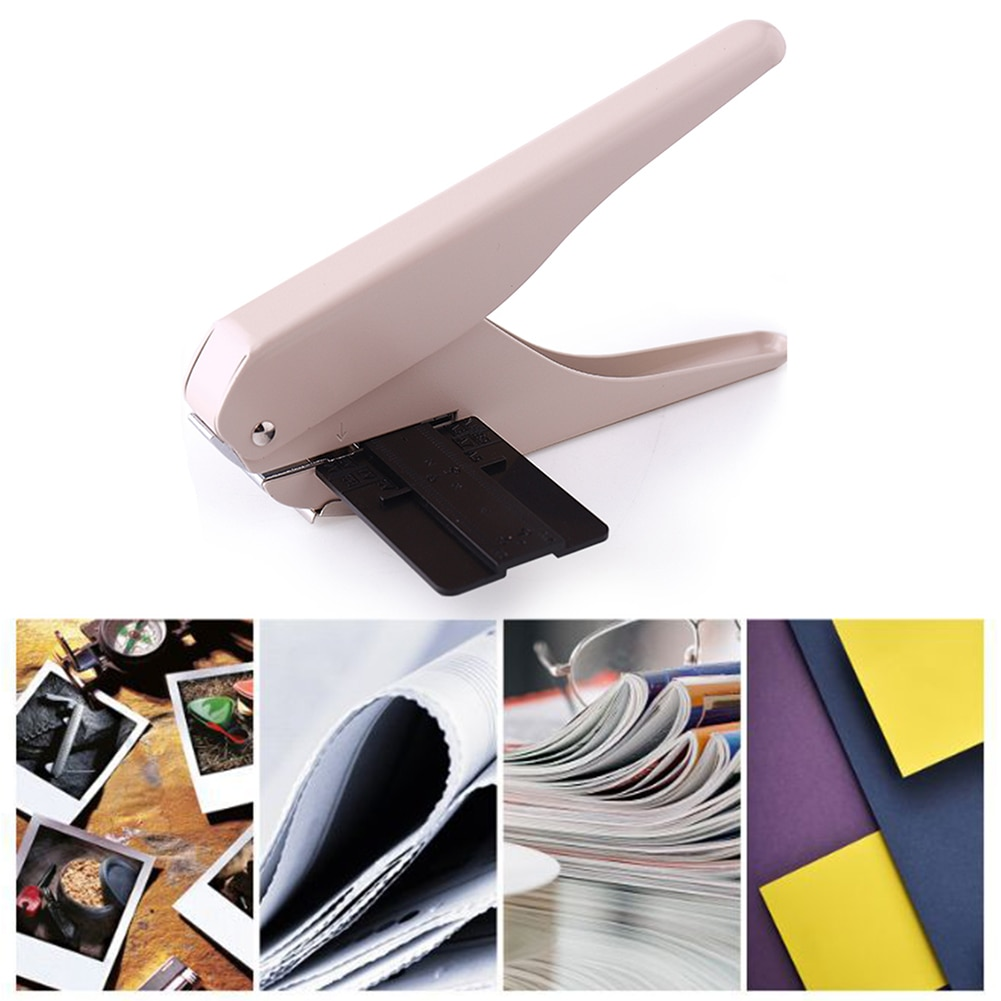 Hole Puncher Creative Manual Puncher Mushroom Hole Shape Punch DIY Paper Cutter T-type Punching Machine Offices Stationery Tools