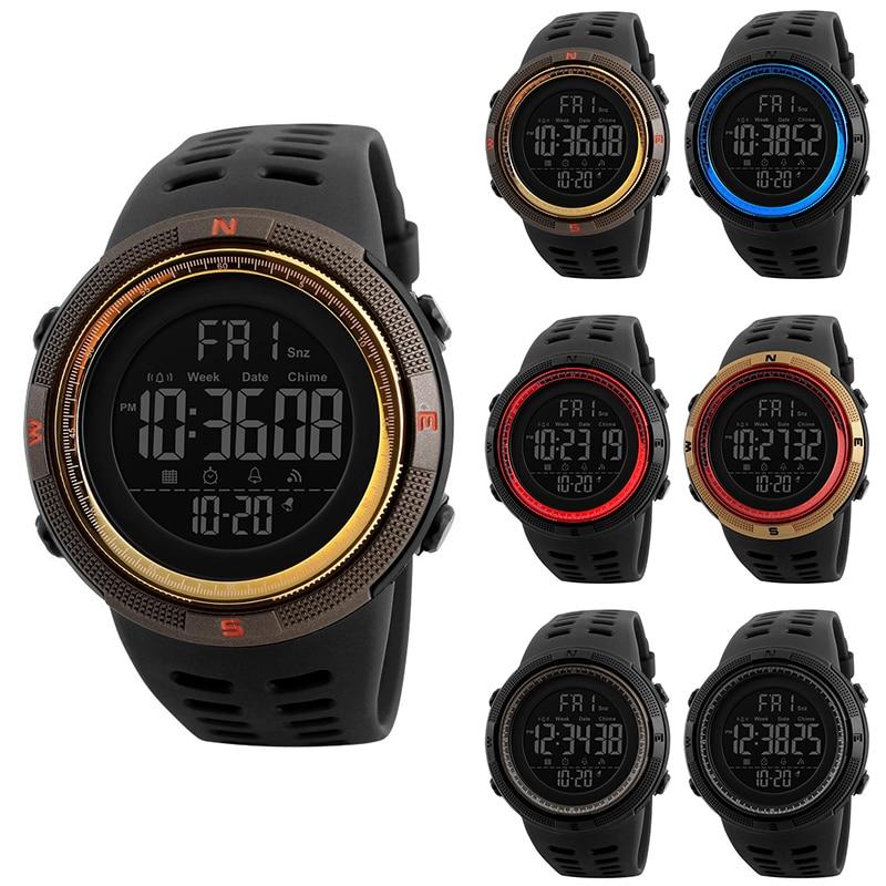 50m Water Resistant Men's Digital Smart Watch Photography Sport Reminder Waterproof Pedometer Smartwatch