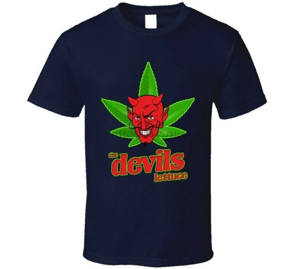 Camiseta divertida de The Devils, lechuga, marihuana, Stoner, camiseta informal para adultos