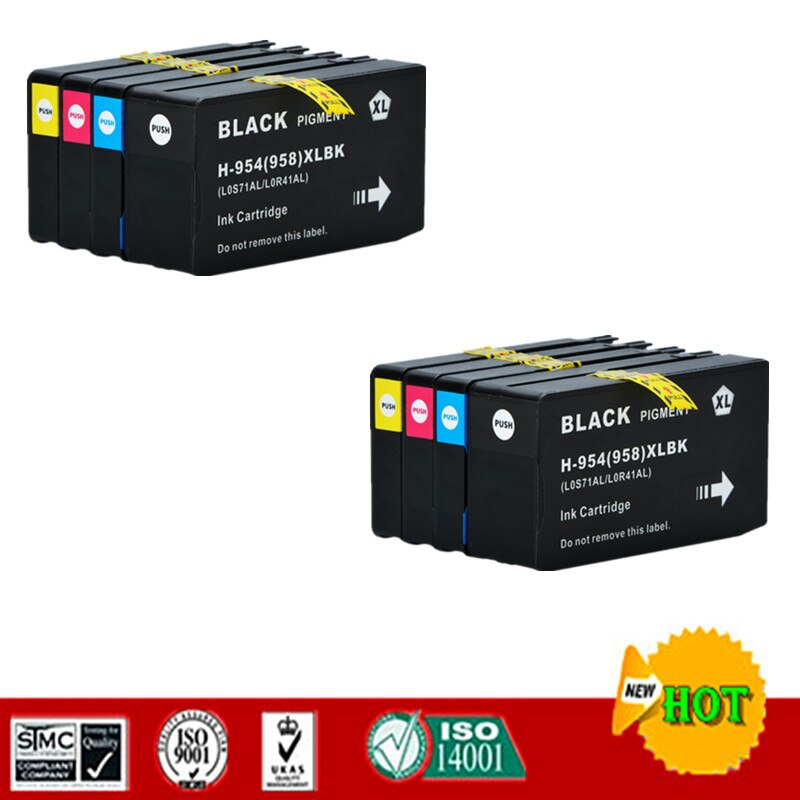 Cartucho de tinta Compatible para HP954XL HP954 Compatible con HP OfficeJet 7720 7740 OfficeJet Pro 8210 8710 8720 8730 etc.