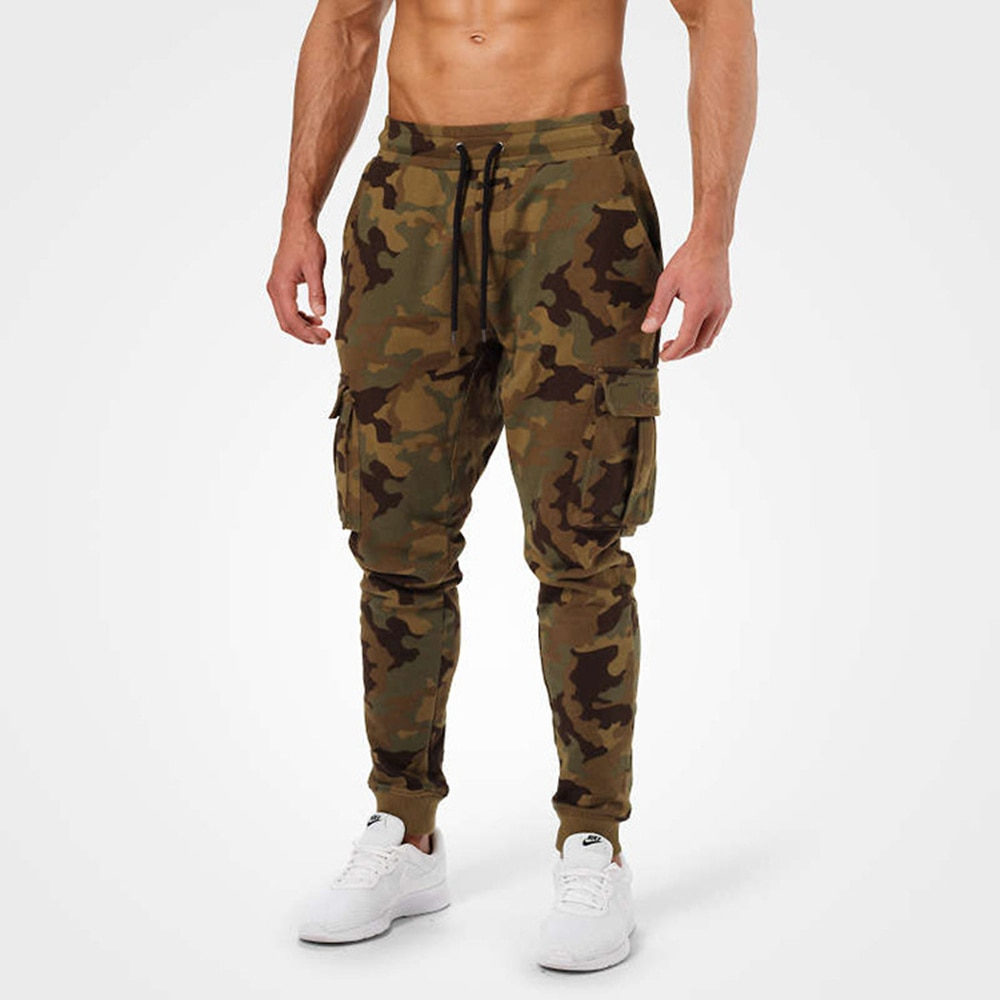 Camouflage Casual Pants Men Joggers Sweatpants Cotton Track Pants Gym Fitness Multi-pocket Trousers 2020 Male Running Sportswear