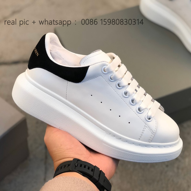 AliExpress - Alexande Luxury Designer Men Casual Shoes Sneakers Lace Up Platform Women Thick bottom White Vulcanize Lovers shoes Zapato