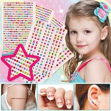 2 feuille auto-adhésif strass autocollant multicolore Bling Flatback acrylique gemmes cristal autocollants pour enfants fille bricolage artisanat
