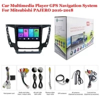 for mitsubishi pajero 2016 2018 accessories car android multimedia player radio 9inch screen dsp stereo gps navigation system