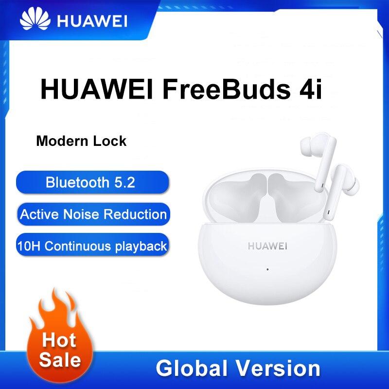 الإصدار العالمي من سماعات هواوي FreeBuds 4i اللاسلكية للحد من الضوضاء النشطة للحد من المكالمات سماعات بلوتوث 5.2 الحد من الضوضاء