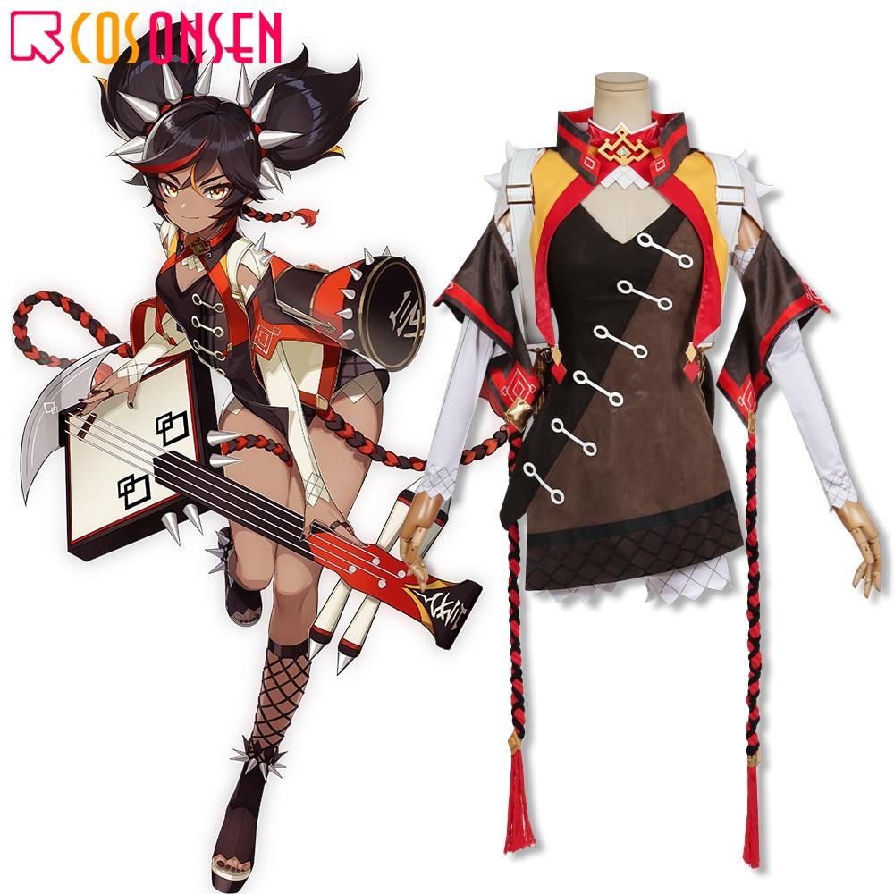 Костюм для косплея Genshin Impact Xinyan, костюм для косплея ONSEN острые блестящие наряды, полный комплект на заказ