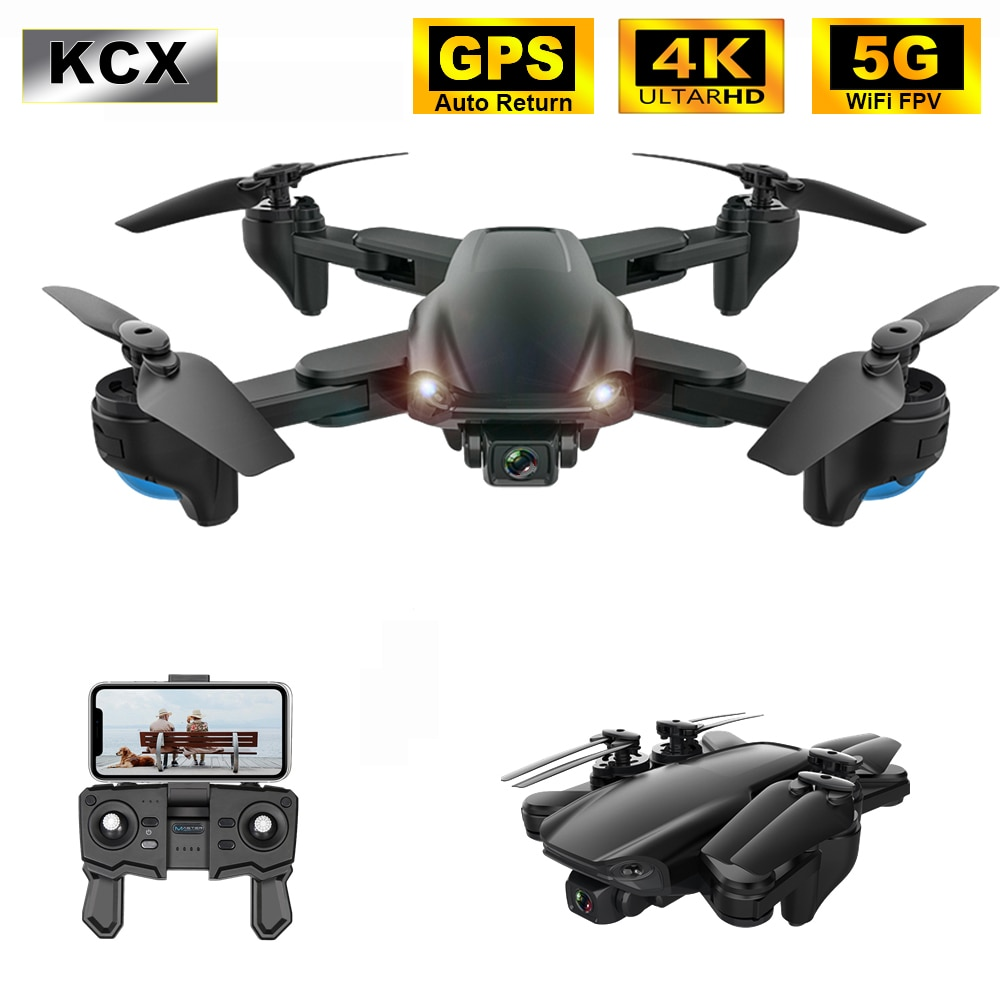 KCX Professionelle GPS Drone 4K mit Dual Kamera Hd 5G WiFi FPV Optischen Fluss Faltbare RC Quadcopter Mini eders VS SG907