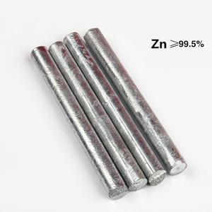 Zinc Rod High Purity Zn 99.5% Ingot Round Bar Anode Electroplating Diameter 2mm to 100mm