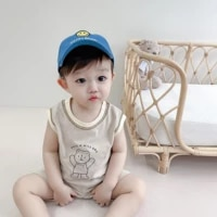 baby short sleeved shorts summer clothes vestshorts two piece suits for newborn baby clothes cotton childrens summer outfits