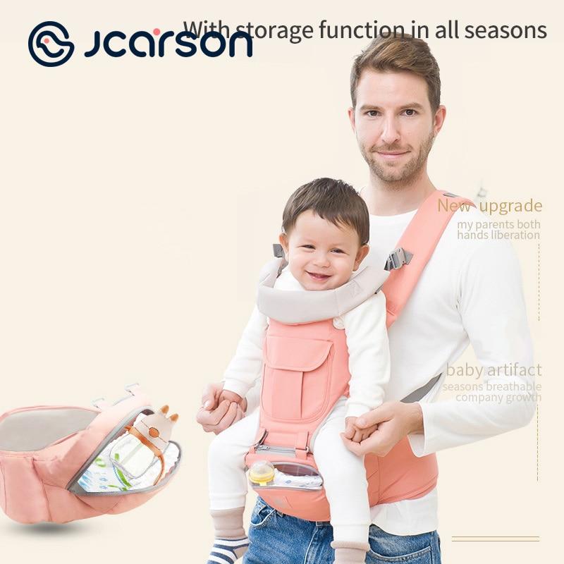 JCARSON الجبهة حقيبة تنفس مريح الطفل الناقل الرضع الورك مقعد الرافعة التفاف حامل الظهر السفر في الهواء الطلق الكنغر الربيع