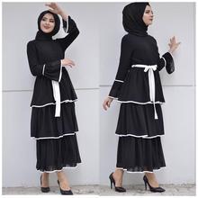 Élégant musulman frangé Robe Abaya Cardigan Maxi Kimono longue Robe robes Vestidos moyen-orient Eid Ramadan turc islamique prière