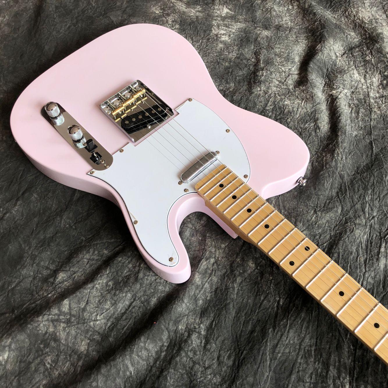 Custom shop.pink color electric guitar.maple fingerboard gitaar,alder body.handwork 6 Strings guitarra. enlarge