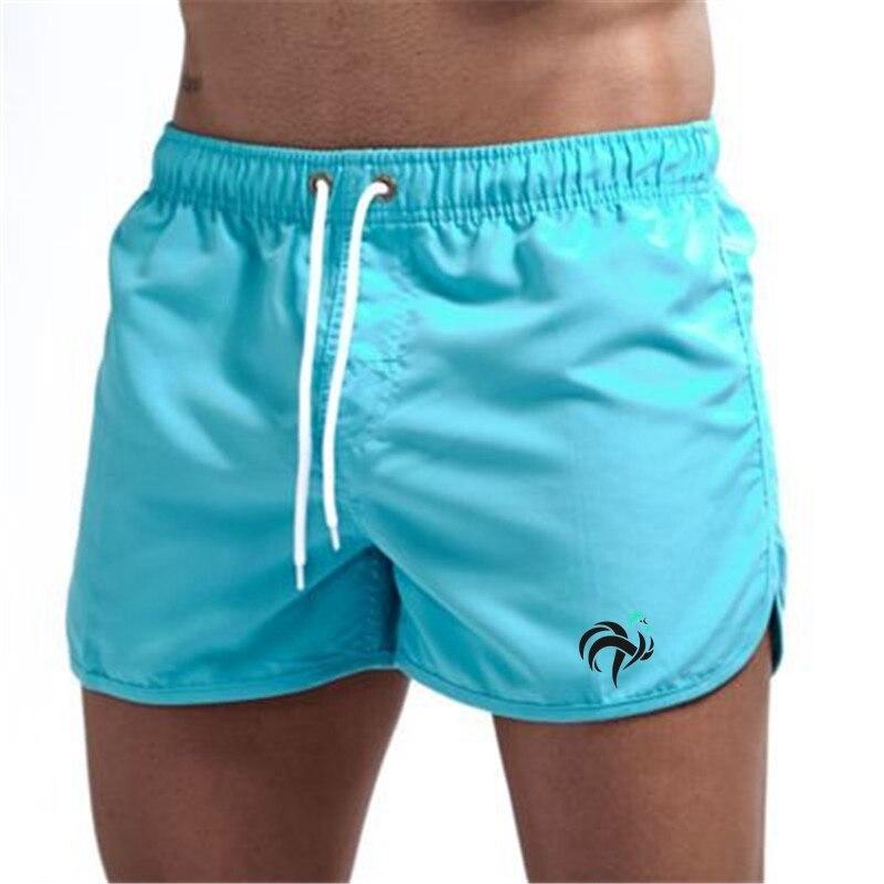 Новые мужские быстросохнущие пляжные шорты для фитнеса и бега, купальные плавки, летняя пляжная одежда для купания, шорты для серфинга
