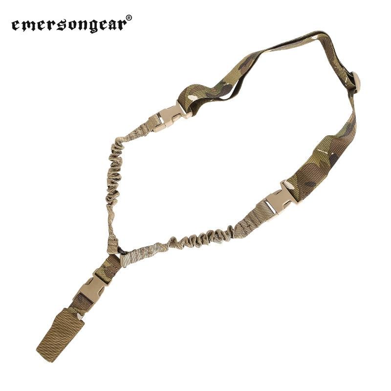 Emersongear cabestrillo táctico para arma de un solo punto Sling correa de hombro Bungee LQE accesorios de caza gancho de malla desmontable