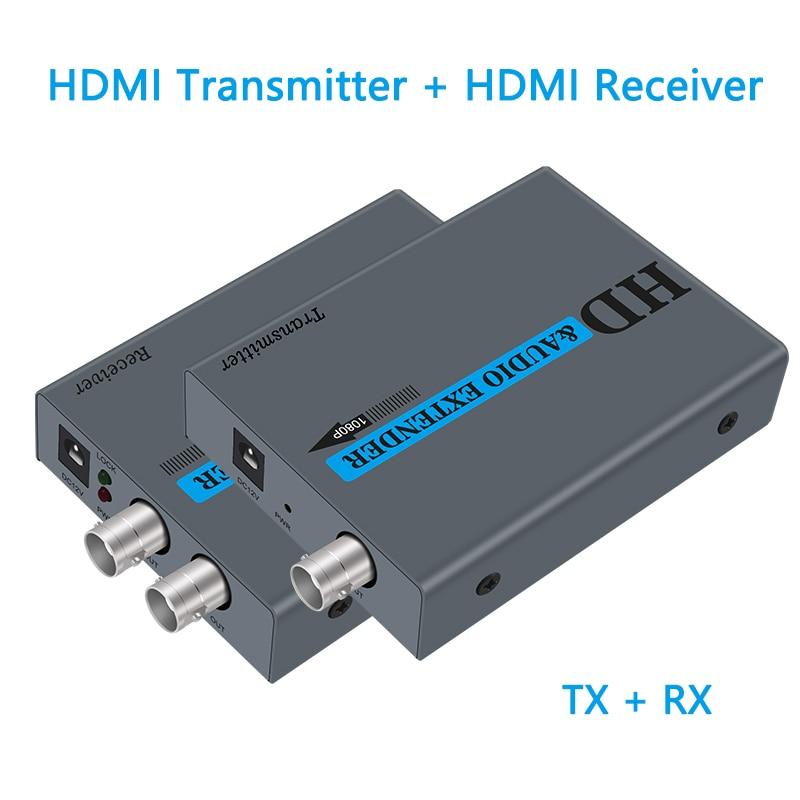Wiistar hdmi extensor sobre coaxial único rg6/rg7/rg11 cabo coaxial suporte 1080p até 500m/1640ft hdmi transmissor e receptor
