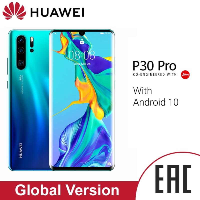 Huawei P30 Pro смартфон глобальная Версия 8 Гб 256 ГБ 40MP Quad Camera мобильный телефон 10x zoom 6,47 'экран Kirin 980 смартфон