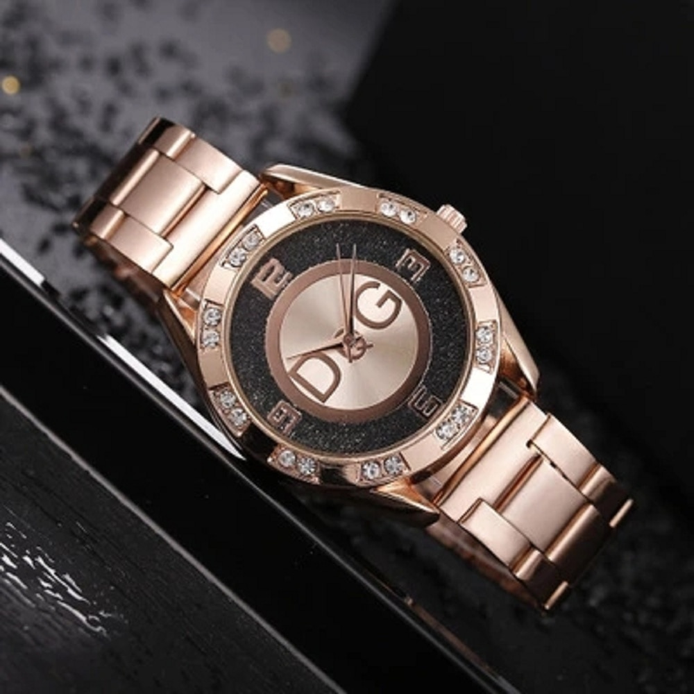 New Famous Brand Women Watches Luxury Crystal Dress Quartz Watch Ladies Casual Fashion Stainless Steel Wrist Watches Reloj Mujer 2019 fashion luxury women watches casual diamond mesh new strap quartz watch analog wrist watch womens watches reloj mujer