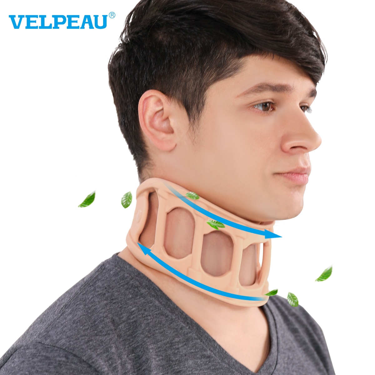 VELPEAU Neck Brace for Cervical Spine Pain Cool and Breathable Silicone Collar for Summer Neck Suppo