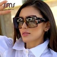classic oversized square sunglasses women 2020 new fashion black leopard sun glasses female gradient vintage big shades uv400