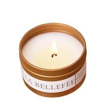 Natural branco rosa óleo aromaterapia vela livre de fumo castiçais de vidro aniversário scented vela que faz a festa de casamento decoração