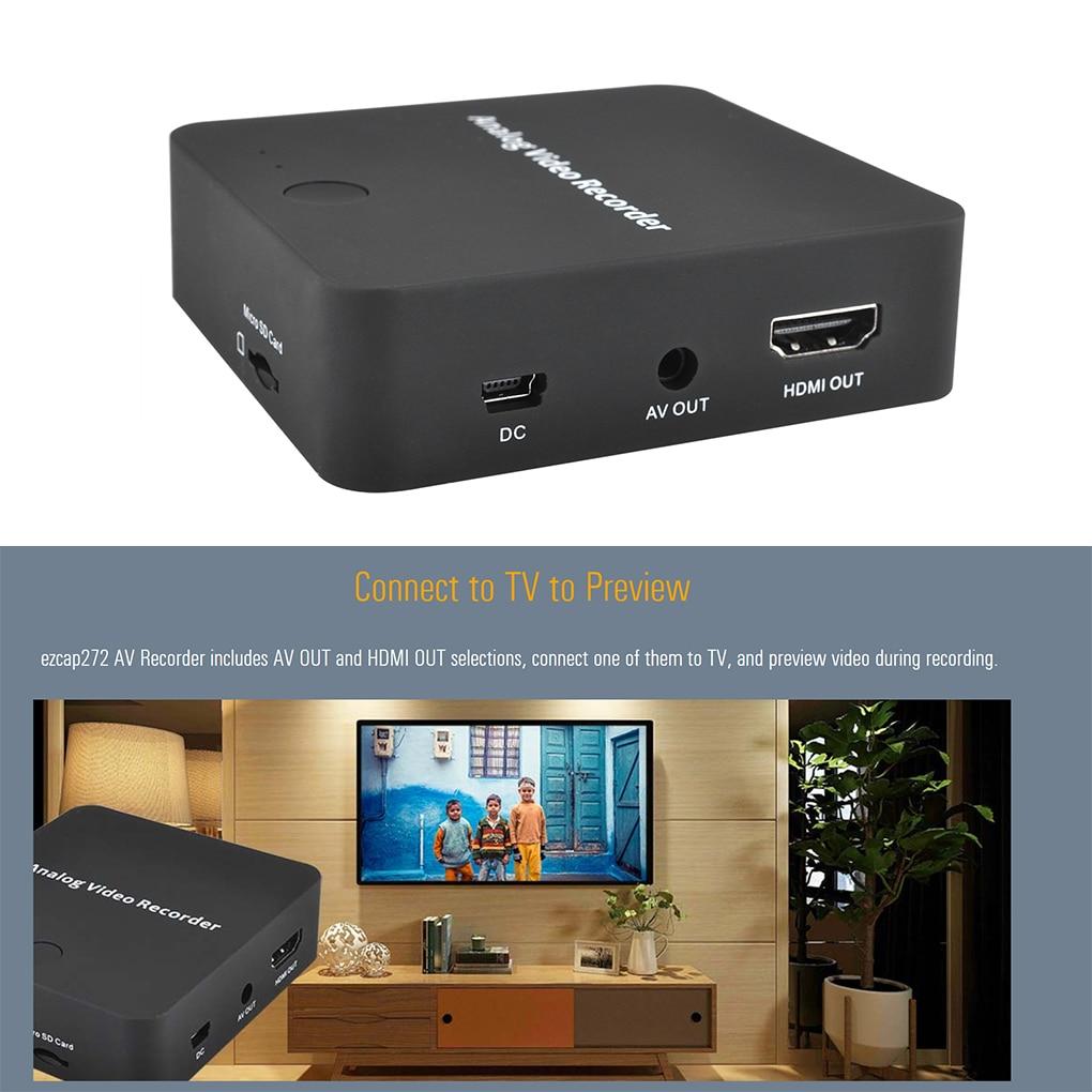 USB 2.0 Analog Video Recorder AV Capture Video Tapes Transfers to Digital Format VHS To Digital Converter for For Hi8 DVD VCR