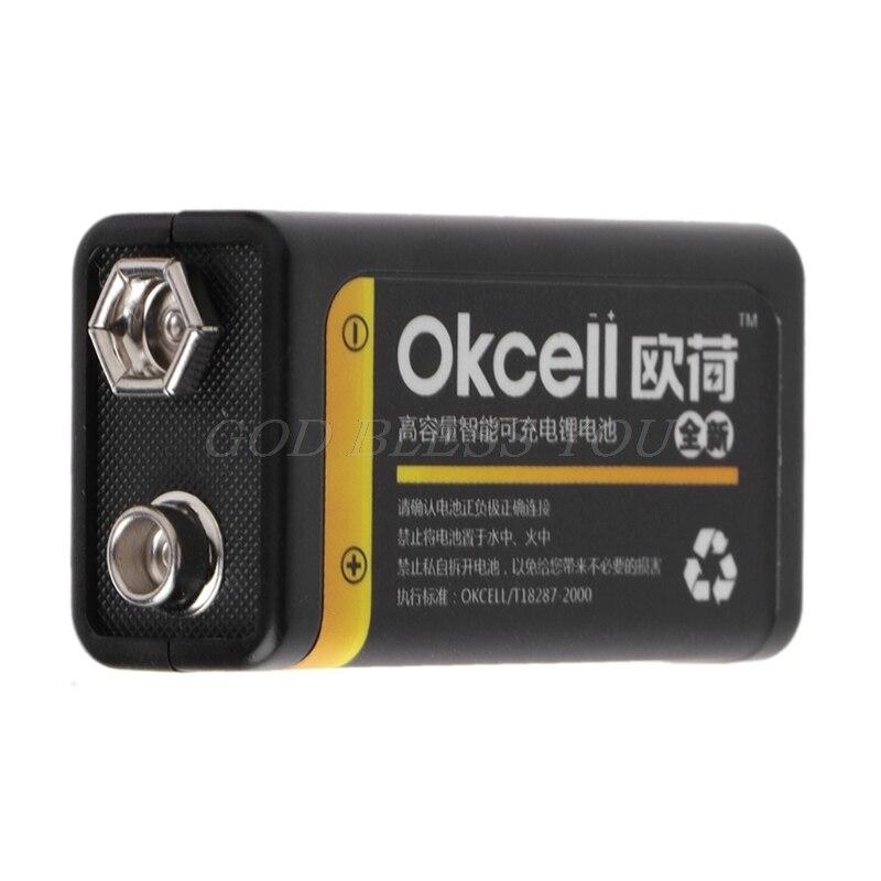 2019 nueva gran oferta 9V 800mAh Micro USB recargable Lipo batería para multímetro micrófono remoto electrónica inteligente