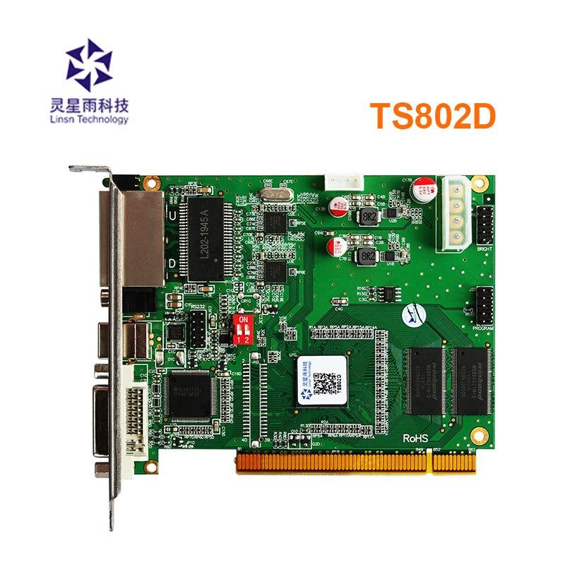 Linsn-بطاقة إرسال LED ، بطاقة استقبال rv908m32 rv901t لشاشات العرض الخارجية led كبيرة بالألوان الكاملة ، TS802D