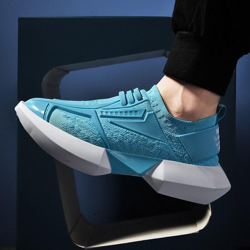 2020 homens super legal estilo estrela plataforma tênis sola grossa tênis de corrida altura aumentar mule robusto ao ar livre sapatos caminhada