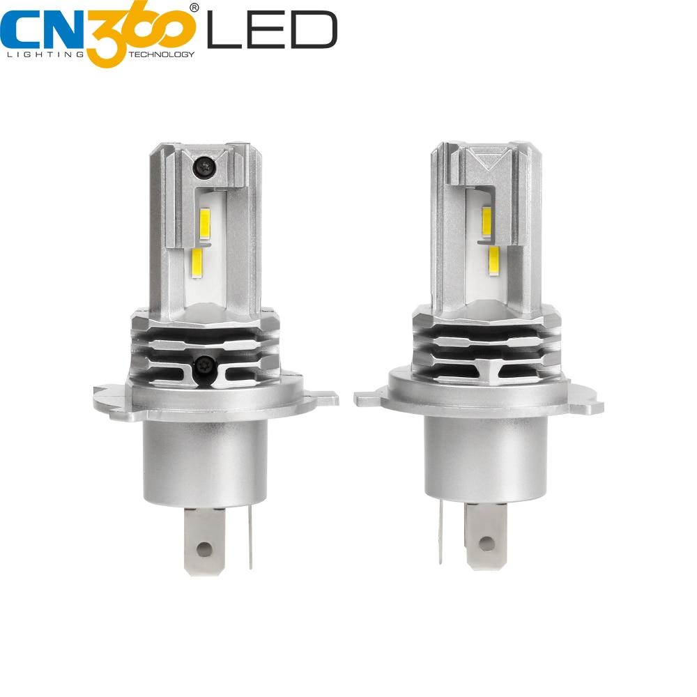 CN360 2 uds H4 LED faro 9003 HB2 Hola/Baja bombillas para coche 50W 12V 12V 6500K 3200LM Auto faro Mini ventilador blanco