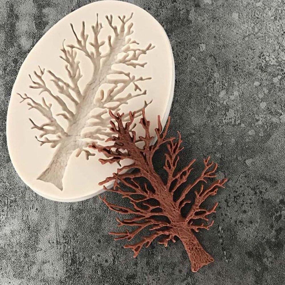 Molde de silicona para repostería de Chocolate, Fondant, cocina, decoración manualidades, herramientas hot A30726 con forma del árbol de Navidad 3D Craft relieve